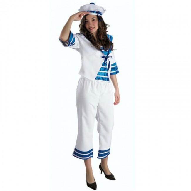 disfraz marinera mujer - DISFRAZ DE MARINERA PANTALON MUJER