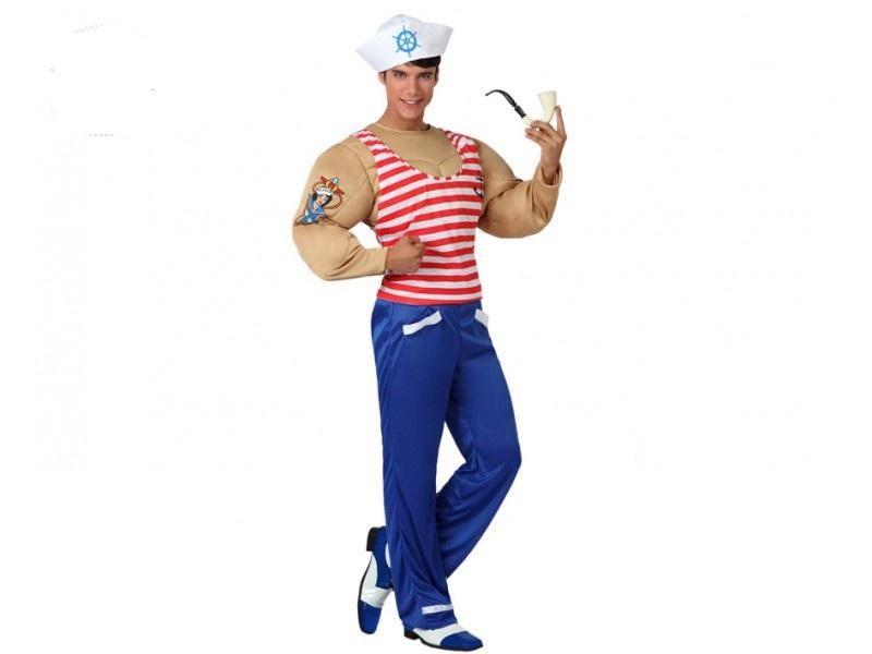 disfraz marinero musculoso ad 1 - DISFRAZ DE MARINERO FORZUDO HOMBRE