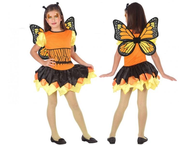 disfraz mariposa amarillo niña - DISFRAZ DE MARIPOSA NARANJA NIÑA