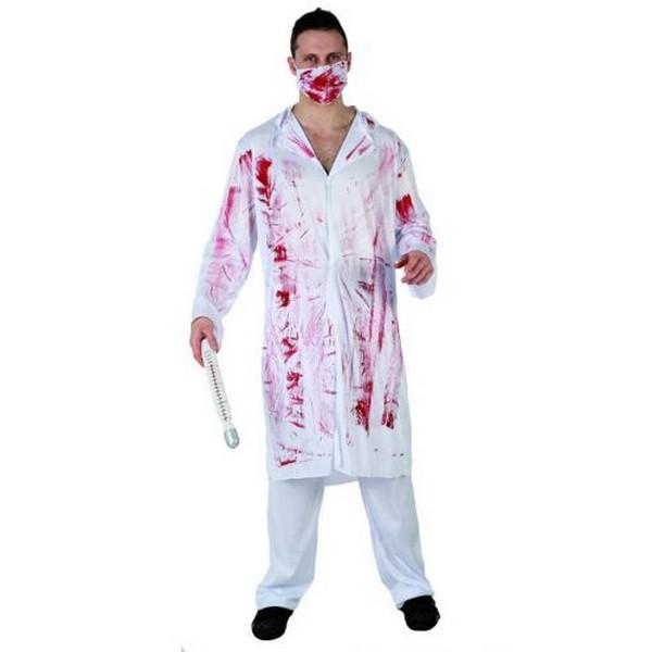 disfraz medico sangriento - MEDICO SANGRIENTO ADULTO
