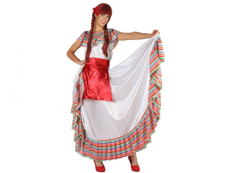 disfraz mejicana mujer 1 - DISFRAZ DE MEJICANA MUJER