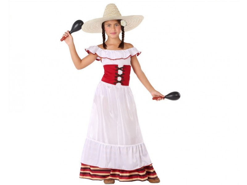 disfraz mejicana niña 1 - DISFRAZ DE MEJICANA NIÑA