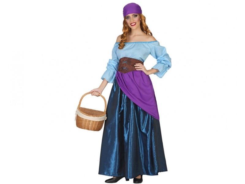 disfraz mesonera azul mujer - DISFRAZ DE MESONERA AZUL MUJER