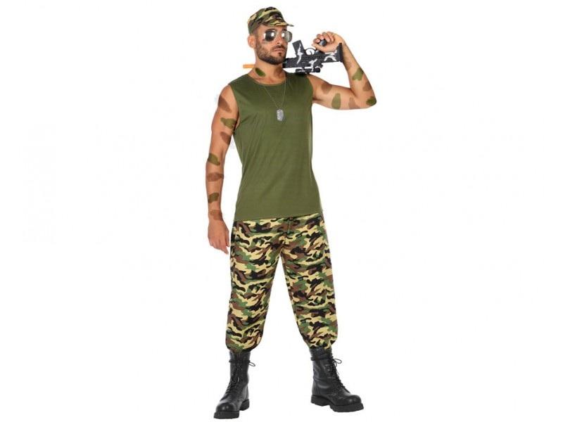 disfraz militar camuflaje hombre - DISFRAZ DE MILITAR CAMUFLAJE PARA HOMBRE