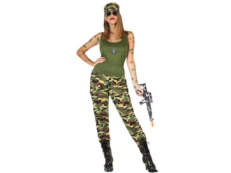 disfraz militar camuflaje mujer 800x600 - DISFRAZ DE MILITAR CAMUFLAJE MUJER