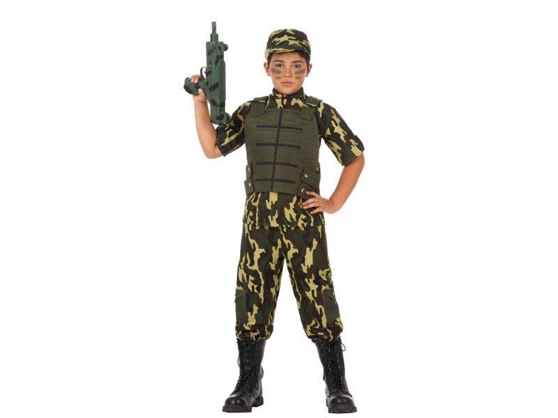 disfraz militar niño 800x600 - DISFRAZ DE MILITAR COMANDO NIÑO