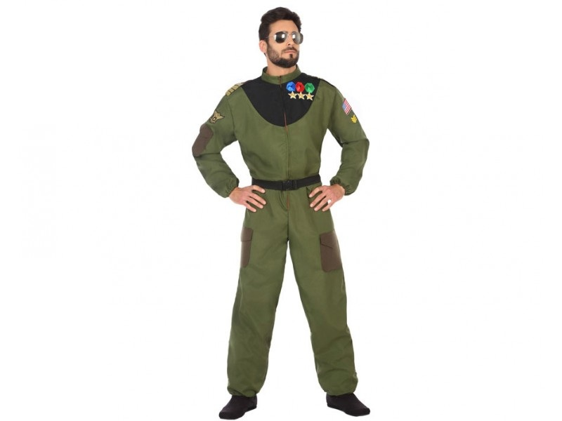 disfraz militar piloto hombre - DISFRAZ DE PILOTO MILITAR HOMBRE
