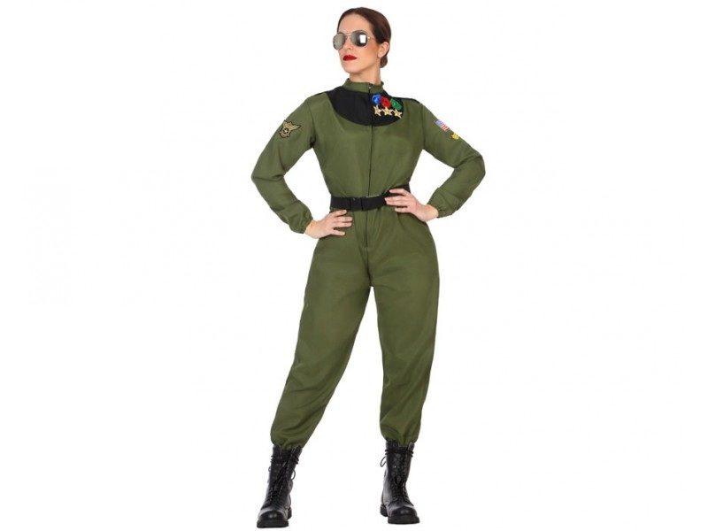 disfraz militar piloto mujer 800x600 - DISFRAZ DE PILOTO MILITAR MUJER