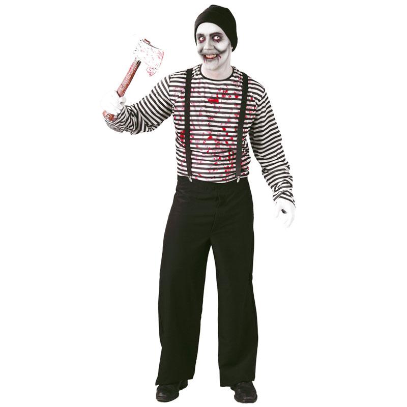disfraz mimo asesino adulto - DISFRAZ DE MIMO ASESINO ADULTO