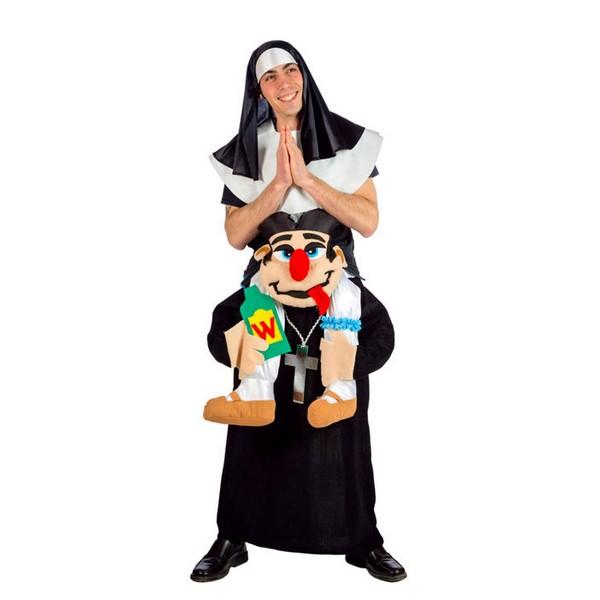 disfraz monja a hombros de cura - DISFRAZ DE MONJA A HOMBROS DE CURA ADULTO