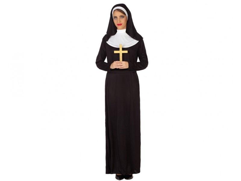 disfraz monja mujer 1 - DISFRAZ DE MONJA MUJER