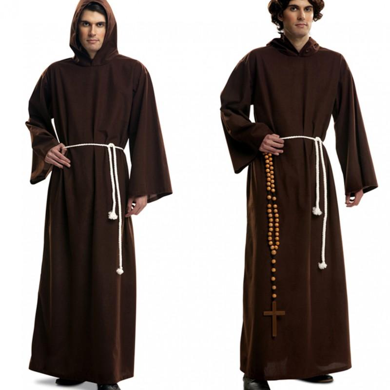 disfraz monje franciscano adulto - DISFRAZ DE MONJE FRANCISCANO ADULTO