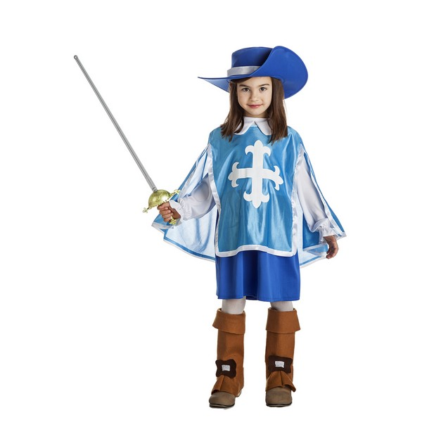 disfraz mosquetera azul niña - DISFRAZ DE MOSQUETERA AZUL NIÑA