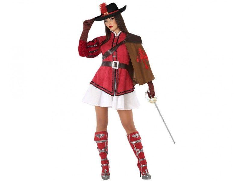 disfraz mosquetera rojo mujer 800x600 - DISFRAZ DE MOSQUETERA ROJO MUJER