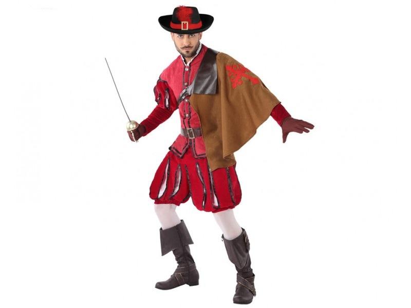 disfraz mosquetero rojo hombre 1 - DISFRAZ DE MOSQUETERO ROJO HOMBRE