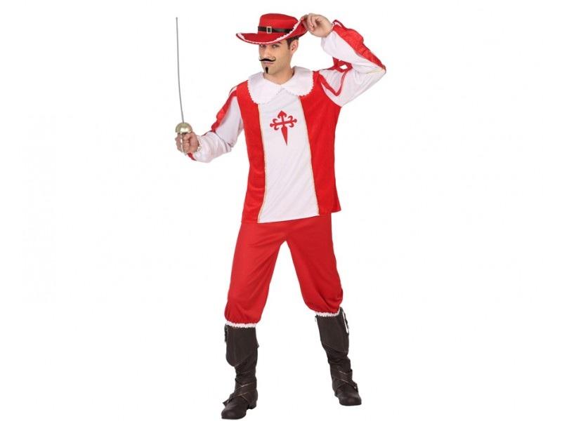 disfraz mosquetero rojo hombre - DISFRAZ DE MOSQUETERO ROJO HOMBRE