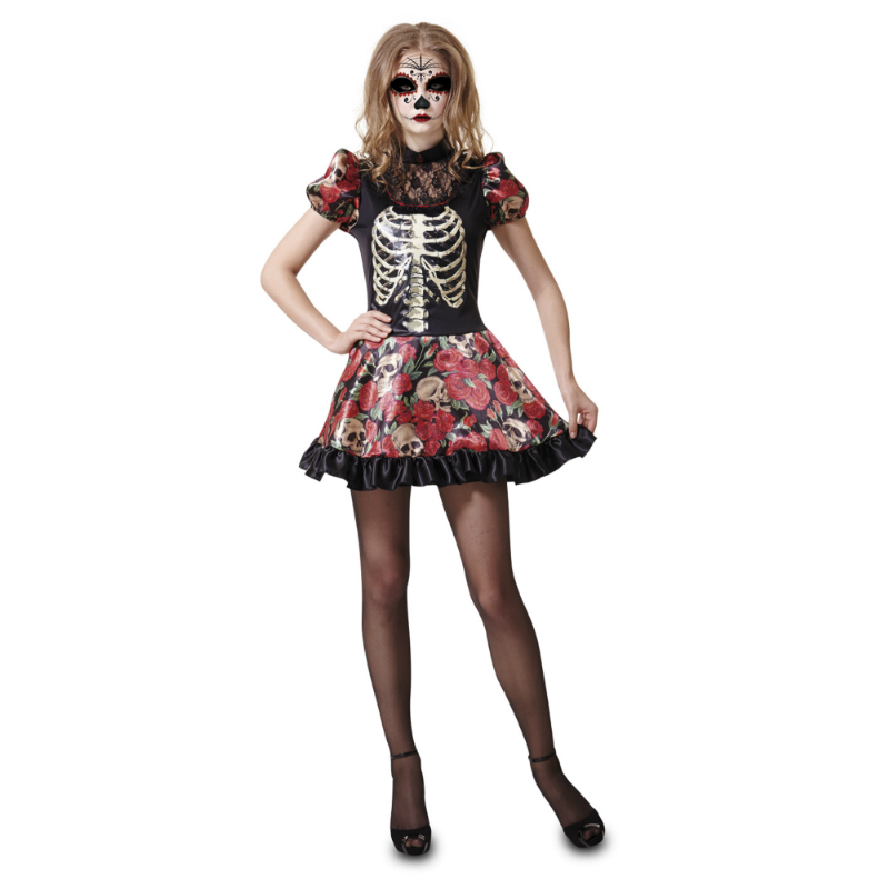 disfraz muñeca dia de los muertos mujer - DISFRAZ DE MUÑECA DIA DE LOS MUERTOS