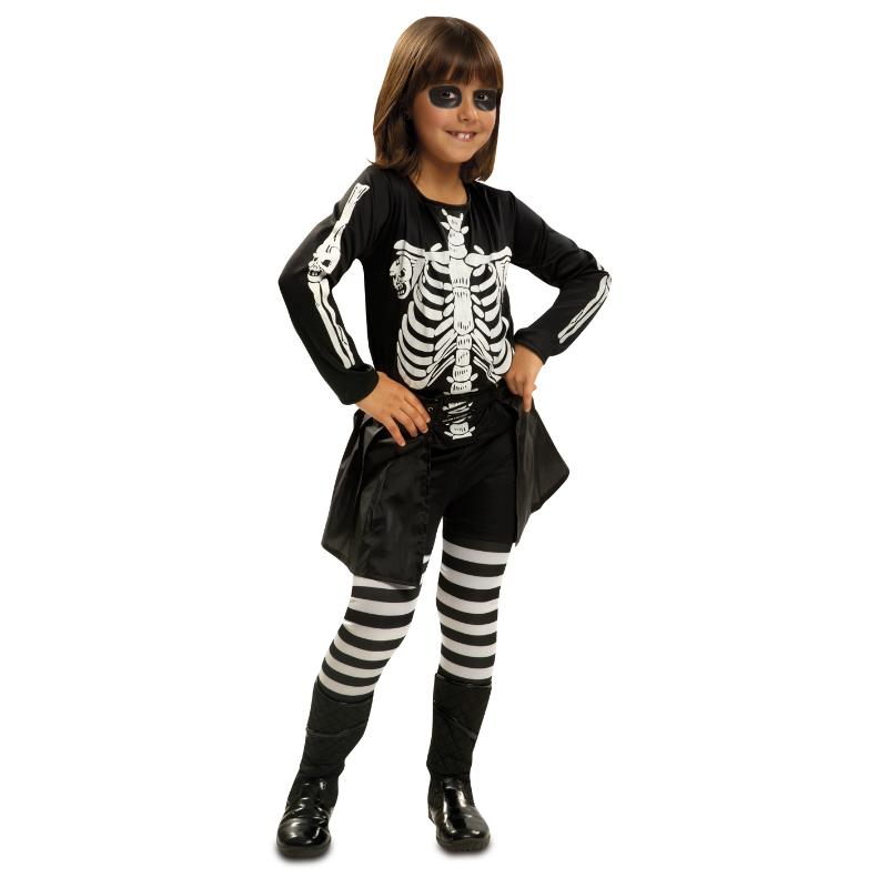 disfraz niña esqueleto 1 - DISFRAZ NIÑA ESQUELETO PEQUE