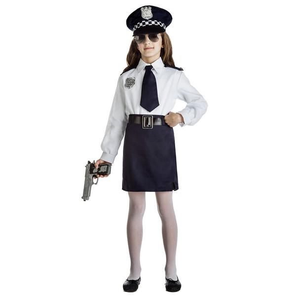 disfraz niña policia camisa - DISFRAZ DE  POLICIA NIÑA CAMISA
