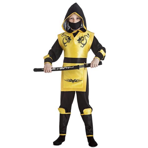disfraz ninja amarillo niño - DISFRAZ DE NINJA AMARILLO NIÑO