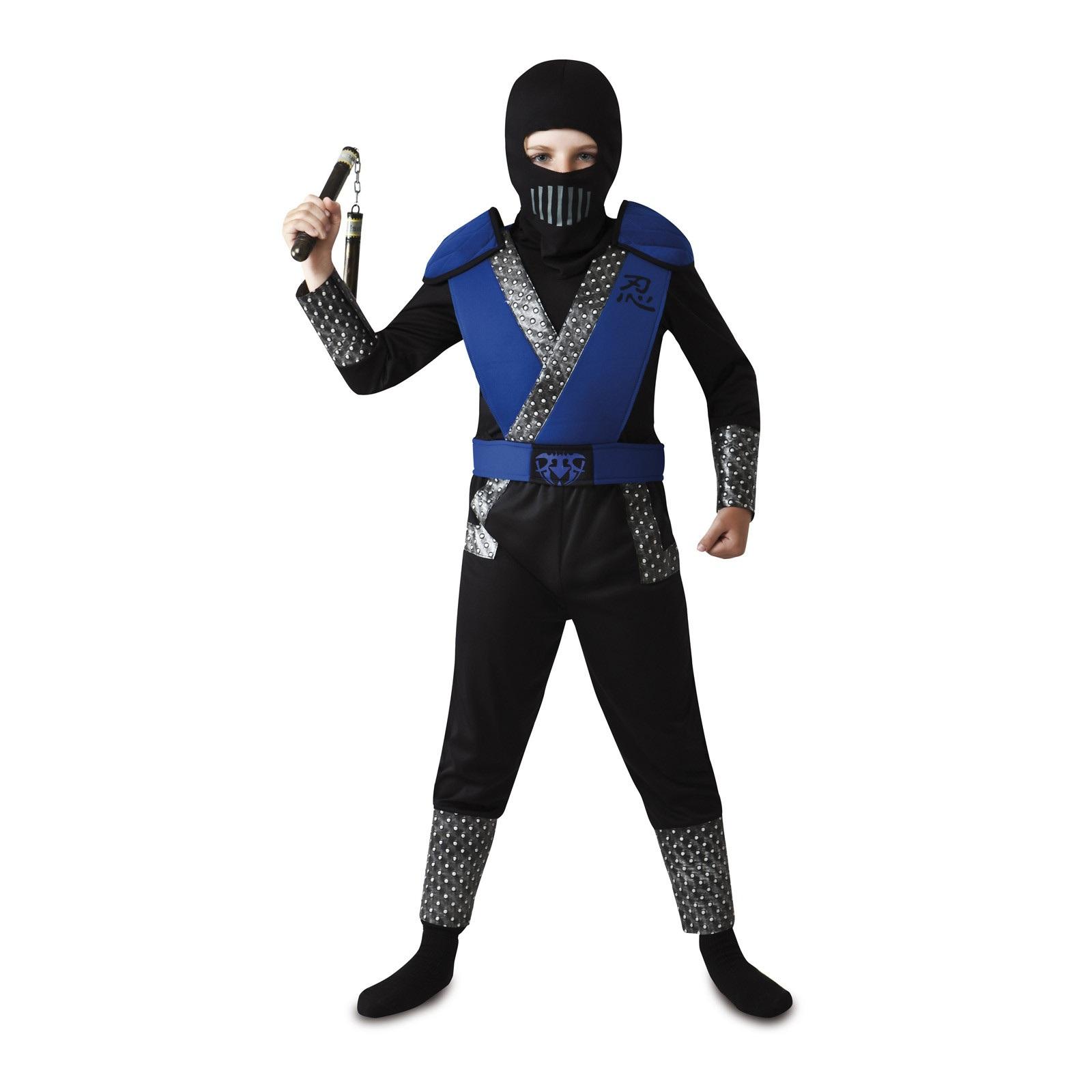 disfraz ninja azul niño 203140mom - DISFRAZ DE NINJA AZUL NIÑO