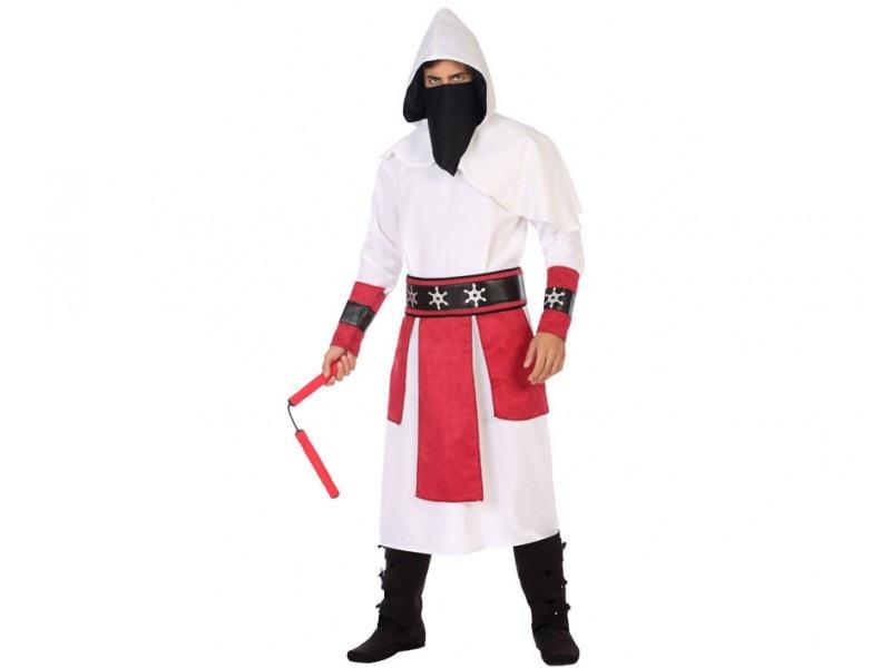 disfraz ninja blanco hombre - DISFRAZ DE NINJA BLANCO HOMBRE