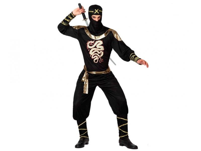 disfraz ninja hombre - DISFRAZ DE NINJA NEGRO HOMBRE