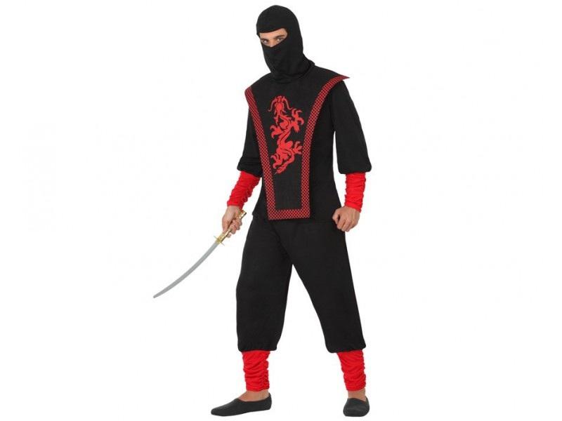 disfraz ninja rojo hombre - DISFRAZ DE NINJA ROJO HOMBRE