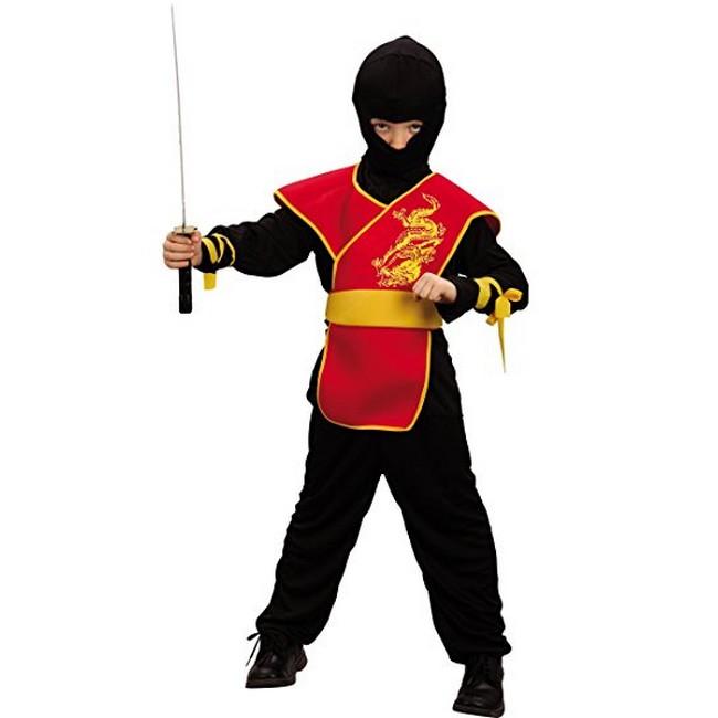 disfraz ninja rojo niño 1 - DISFRAZ DE NINJA ROJO NIÑO