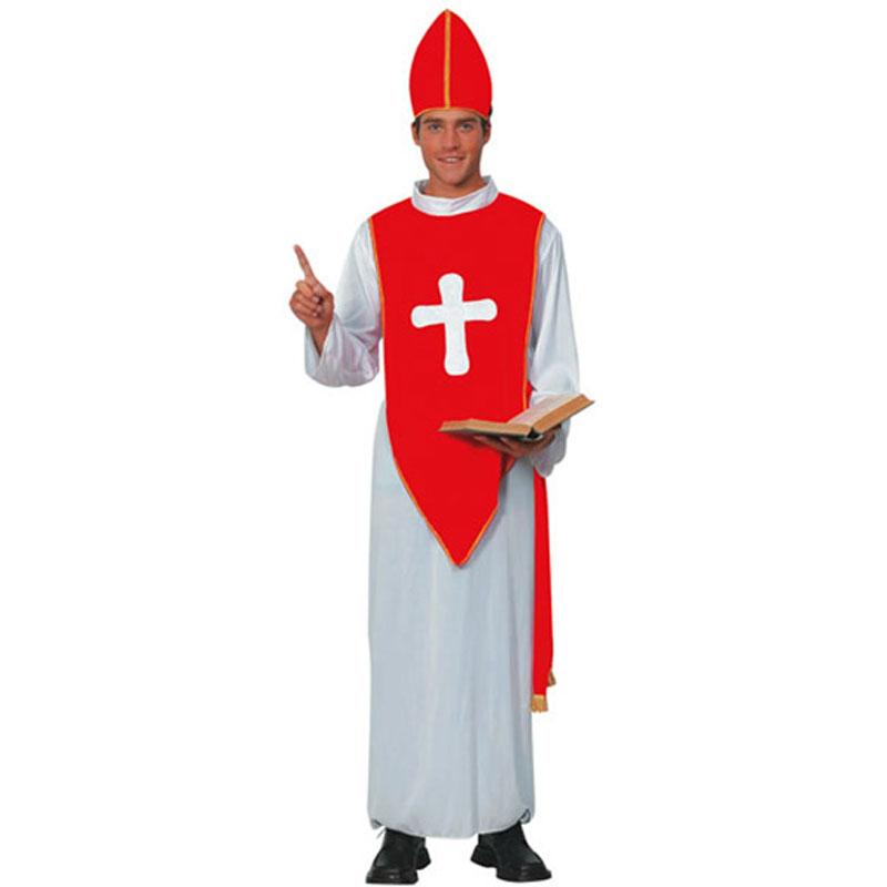 disfraz obispo rojo adulto - DISFRAZ DE OBISPO ROJO ADULTO