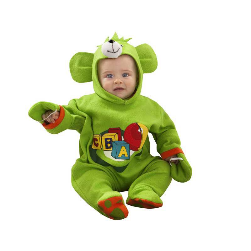 disfraz osito verde bebé - DISFRAZ DE OSITO VERDE BEBÉ