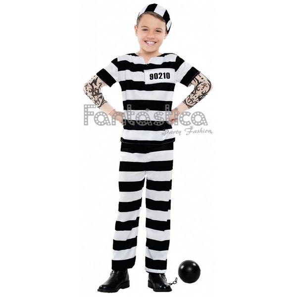 disfraz para nino preso con tatuaje - DISFRAZ DE PRESO NIÑO