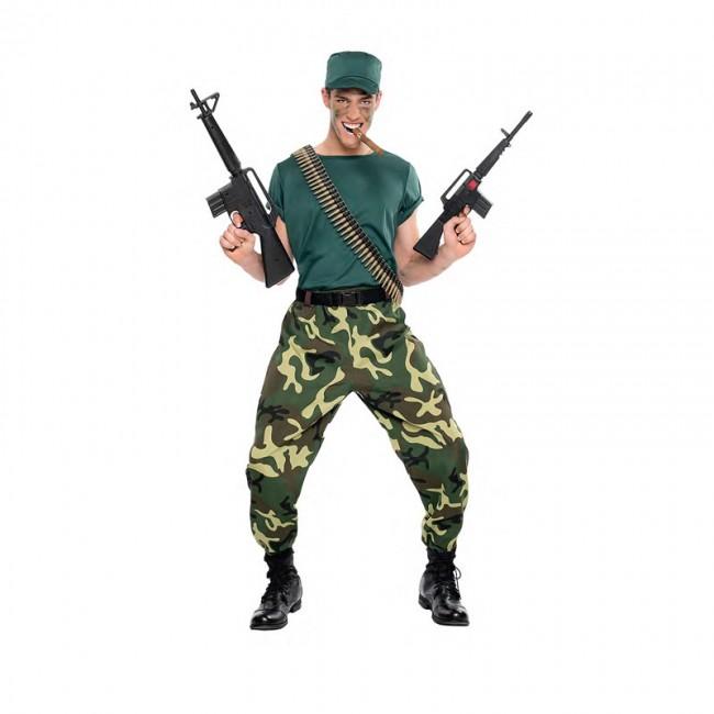 disfraz paramilitar para hombre - DISFRAZ DE PARAMILITAR SOLDADO HOMBRE
