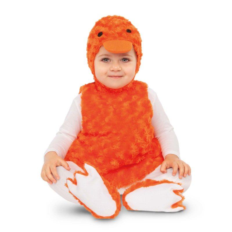 disfraz patito naranja bebé 800x800 - DISFRAZ DE PATITO PELUCHE NARANJA BEBÉ
