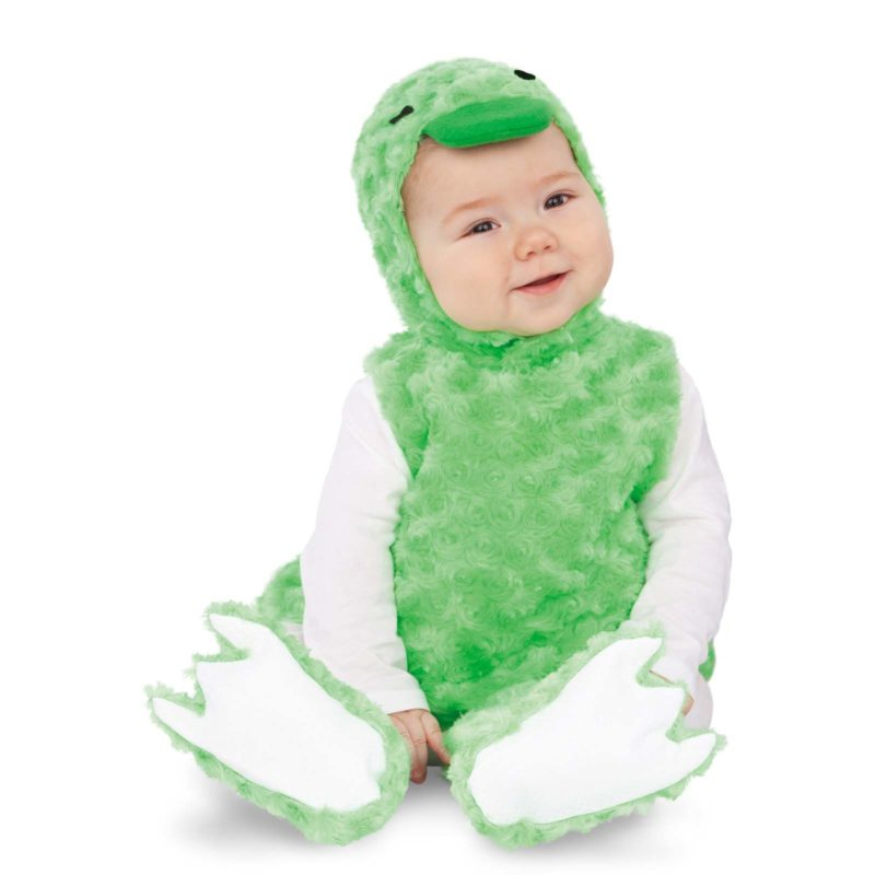 disfraz patito peluche verde bebé 800x800 - DISFRAZ DE PATITO PELUCHE VERDE BEBÉ