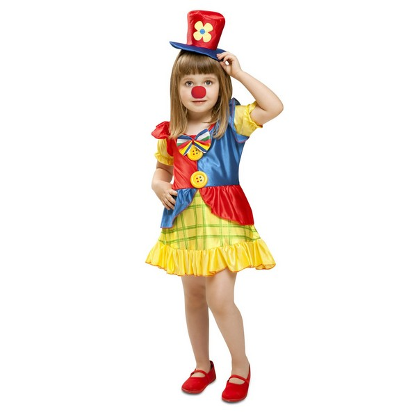 disfraz payasa niña 1 - DISFRAZ DE PAYASITA BEBÉ NIÑA