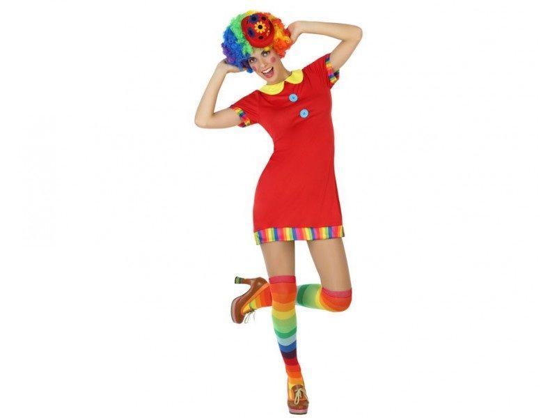 disfraz payasa rojo mujer 800x600 - DISFRAZ DE PAYASA ROJO MUJER