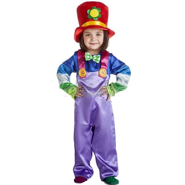 disfraz payasito infantil - DISFRAZ DE PAYASITO LILA BEBE