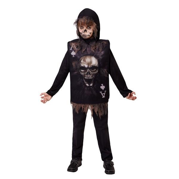 disfraz payaso negro infantil - DISFRAZ DE JOKER CARD INFANTIL