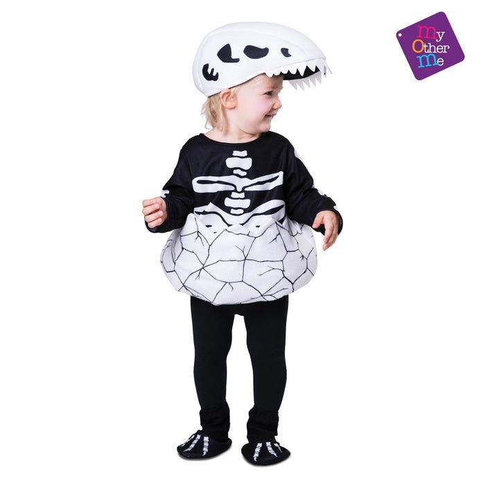 disfraz pequeño dino esqueleto - DISFRAZ DE ESQUELETO DINO PEQUE
