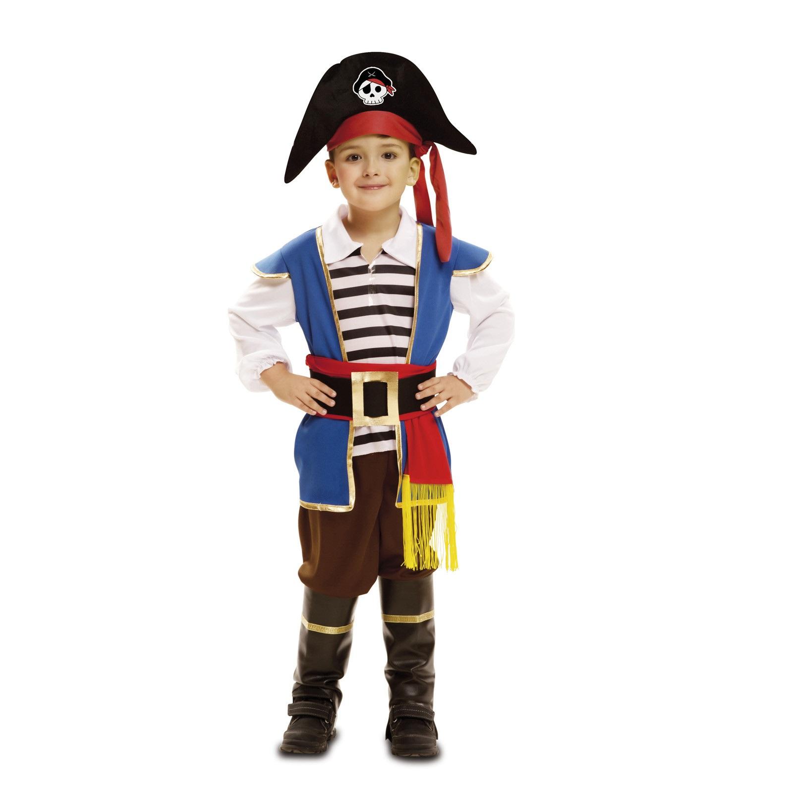 disfraz pequeño pirata azul niño bebé 202003mom - DISFRAZ DE PEQUEÑO PIRATA AZUL BEBE
