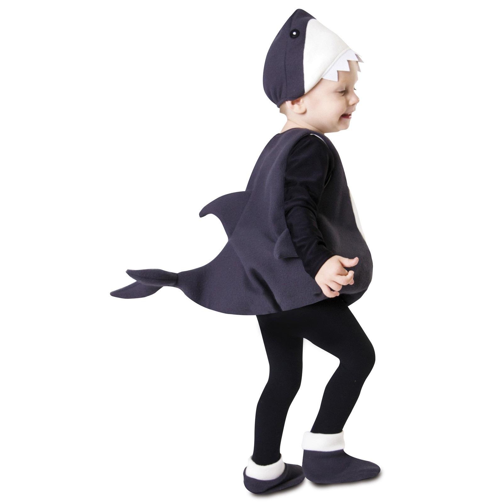 disfraz pequeño tiburón niño 203203mom - DISFRAZ DE PEQUEÑO TIBURON INFANTIL
