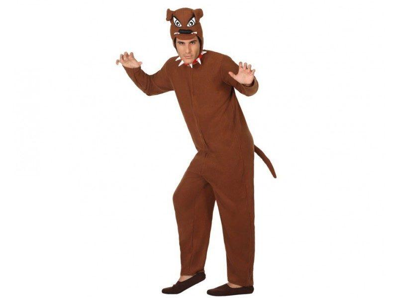 disfraz perro marrón adulto 800x600 - DISFRAZ DE PERRO MARRON ADULTO