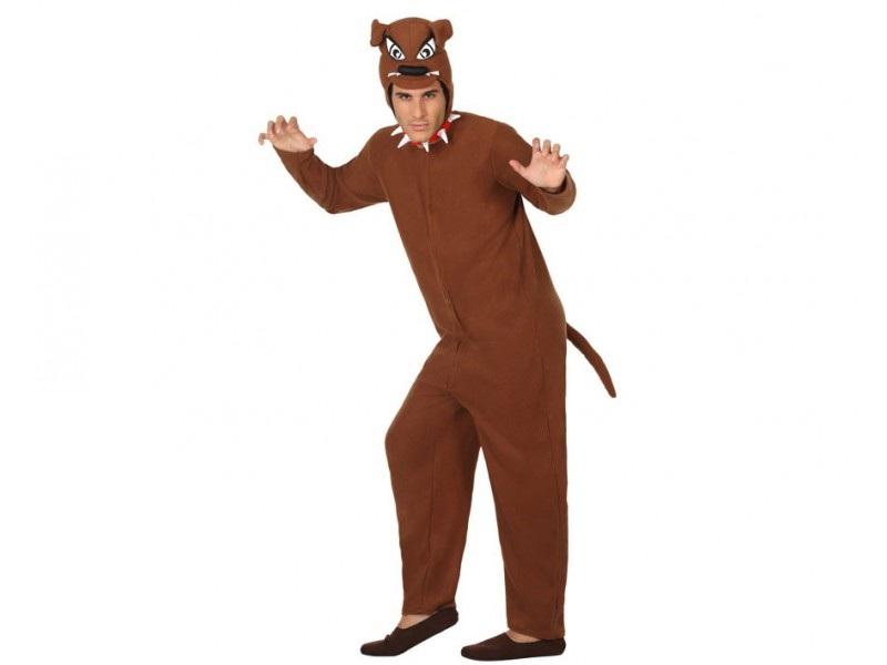 disfraz perro marrón adulto - DISFRAZ DE PERRO MARRON ADULTO