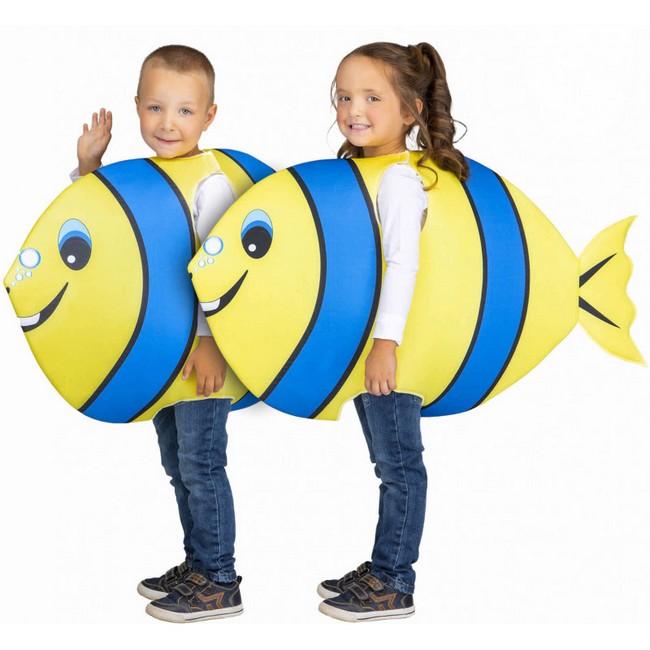 disfraz pez amarillo azul infantil - DISFRAZ DE PEZ AZUL-AMARILLO INFANTIL