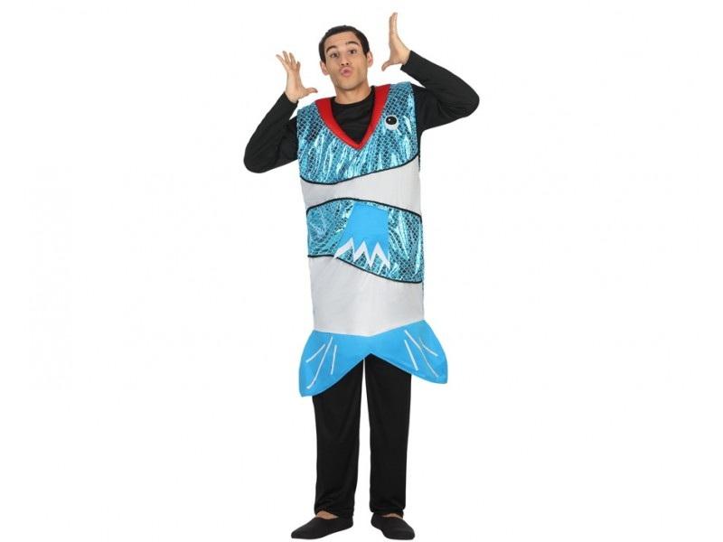 disfraz pez azul hombre - DISFRAZ DE PEZ AZUL PARA ADULTO.