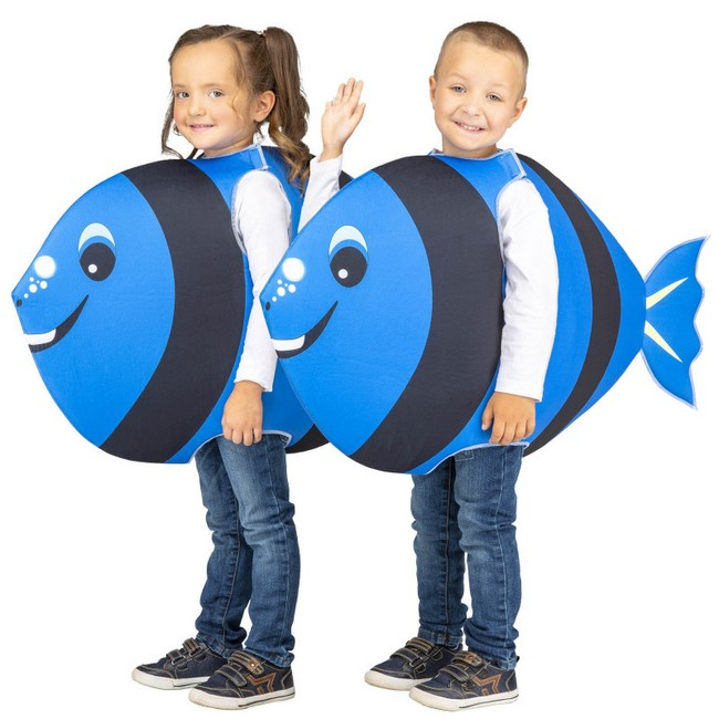 disfraz pez azul infantil 1 - DISFRAZ DE PEZ AZUL INFANTIL