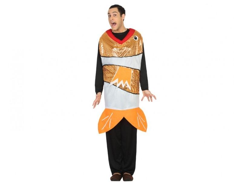 disfraz pez naranja hombre - DISFRAZ DE PEZ NARANJA ADULTO