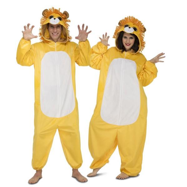 disfraz pijama leon adulto - DISFRAZ PIJAMA LEON ADULTO