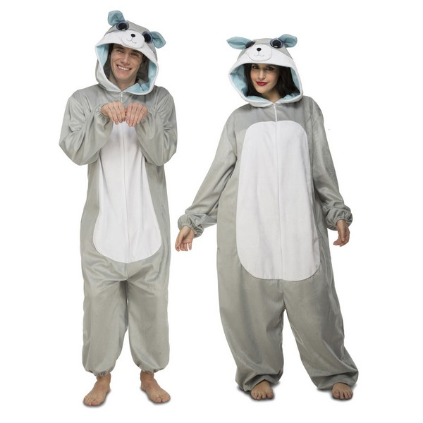 disfraz pijama lobo adulto - DISFRAZ PIJAMA LOBO ADULTO